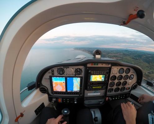P2002 sunset flying